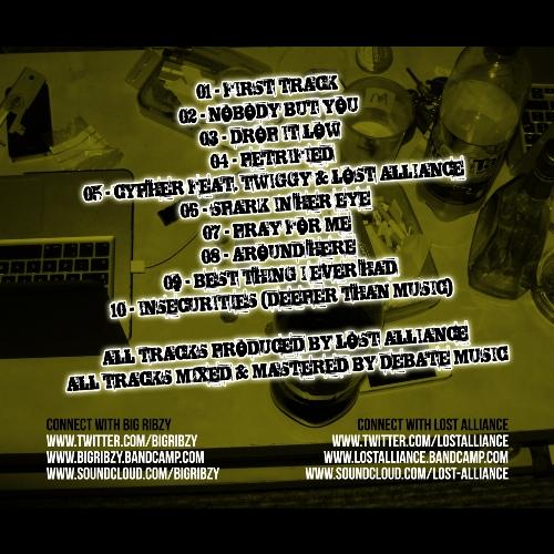 Big Ribzy - Blunts & Insecurities - gback500