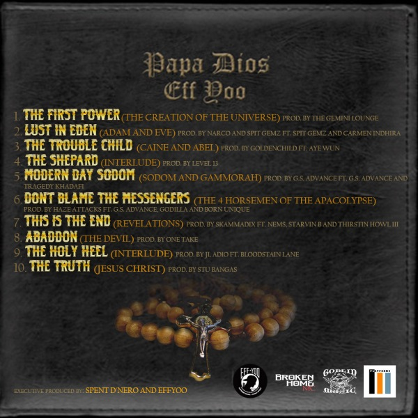Papa Dios Tracklisting